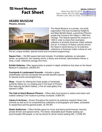 General Fact Sheet - Heard Museum