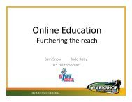 Online Education - US Youth Soccer