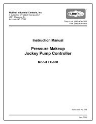 Instructions for Cutler-Hammer Jockey Pump Controllers