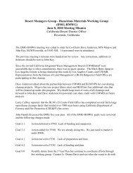 Hazardous Materials Working Group Meeting Minutes June 8, 2000
