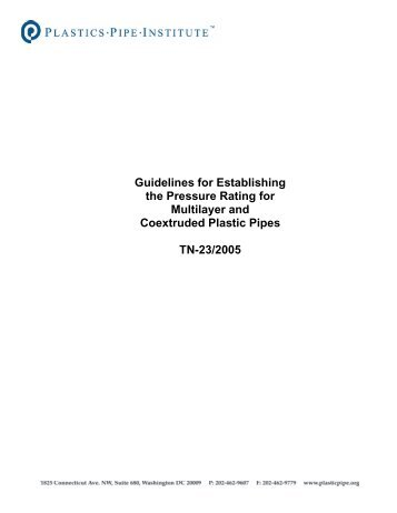 TN-23 Guidelines for Establishing the Pressure Rating for Multilayer ...