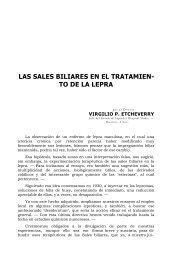 LAS SALES BILIARES EN EL TRATAMIEN- TO DE LA LEPRA