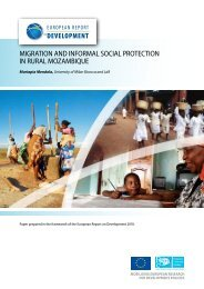 Migration and inforMal Social Protection in rural MozaMbique - ERD
