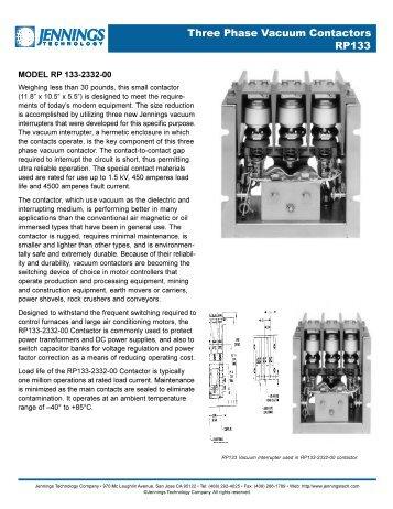 Three Phase Vacuum Contactors RP133 - AMS Technologies