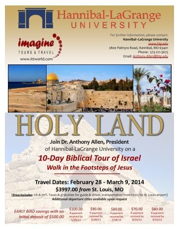 to download a PDF of the Biblical Tour Brochure. - Hannibal ...