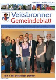 Werbung im Gemeindeblatt bringt Erfolg! - Veitsbronn