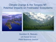Effects of climate change on Tongass's freshwater ecosystems