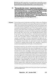 """""""Renascido das cinzas"""": Apoiando projectos especializados ... - Acidi"""