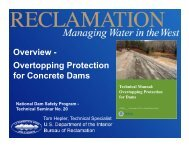 Overview - Overtopping Protection for Concrete Dams