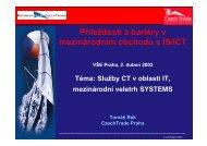 Příležitosti a bariéry v mezinárodním obchodu s IS/ICT VŠE Praha, 2 ...