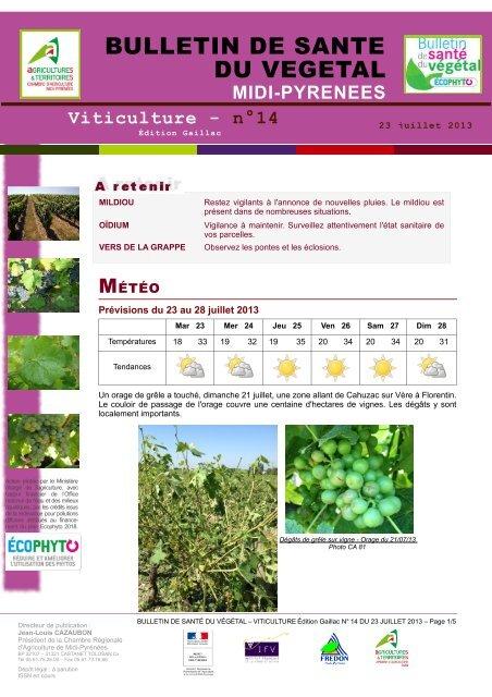Gaillac - Chambre régionale d'agriculture Midi-Pyrénées