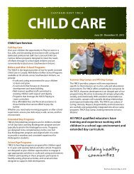 child care - YMCAs