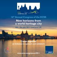 New horizons from a world heritage city - Future ECSS congresses