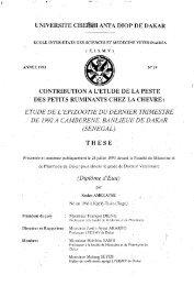 Contribution à l'étude de la Peste des Petits Ruminants chez ... - BEEP