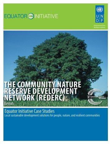 the community nature reserve development network - Equator Initiative