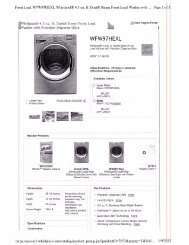 Whirpool Washer and Dryer WFW97HEXL and WED97HEXL