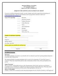 CE Request Form - American Diabetes Association