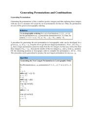 Generating Permutations and Combinations