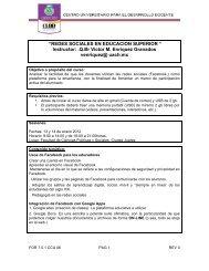 programa completo, del curso - CUDD