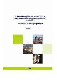 Document de politique générale - ACP Business Climate