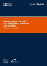 Own-language use in ELT - EnglishAgenda - British Council