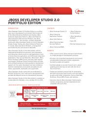 jboss developer studio 2.0 portfolio edition - GovConnection