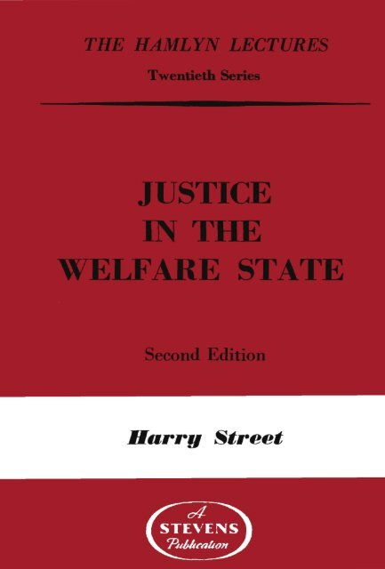 justice in the .welfare state - College of Social Sciences and ...