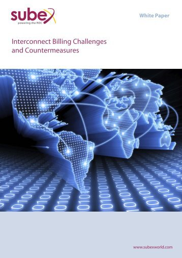 Interconnect Billing Challenges and Countermeasures - Subex