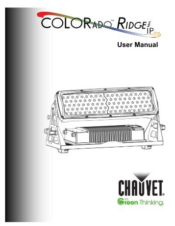 Chauvet Colorado  Tri Tour Manual