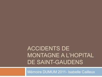 Accidents de montagne a l'hopital de saint-gaudens