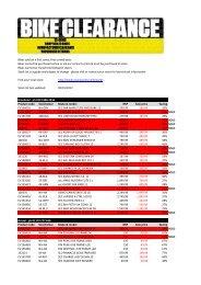 Stock list last updated: 02/01/2012 Braehead - ph ... - Evans Cycles