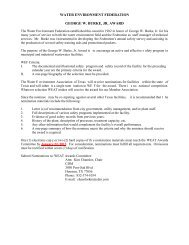 WEF Award Criteria and Nomination Requirements - Water ...