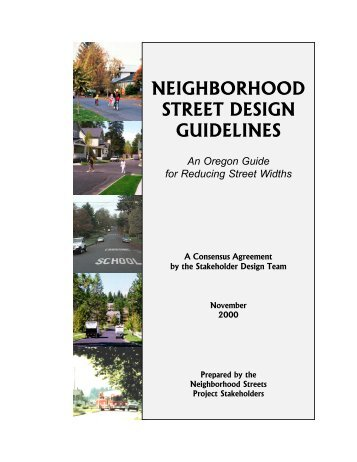 Street Furniture Design Guidelines article 10 - street design guidelines chart