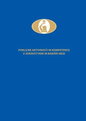 POKLICNE AKTIVNOSTI IN KOMPETENCE V ... - zbornica-zveza