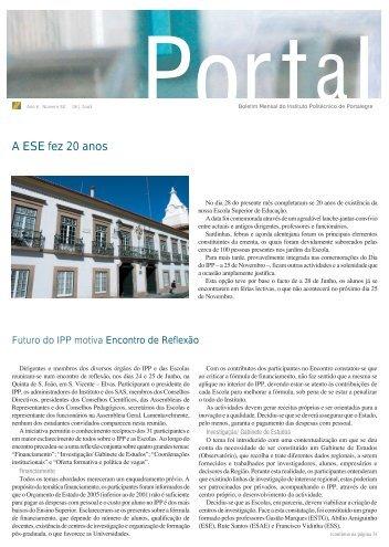 Portal 58 - Instituto Politécnico de Portalegre