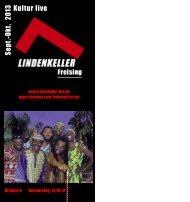 Programmheft Sept - Okt 2013 - Lindenkeller