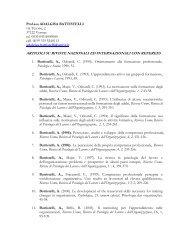 Prof.ssa ADALGISA BATTISTELLI via Tezone, 2 37122 Verona tel ...