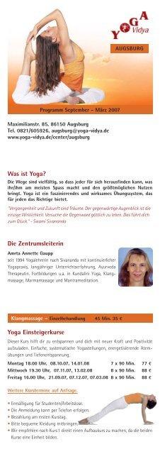 A4 Flyer Augsburg_Sept 07:Layout 1.qxd - Yoga Vidya