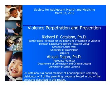 Violence Perpetration and Prevention