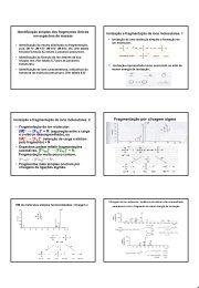 PE]+ + N. Fragmentação por clivagem sigma