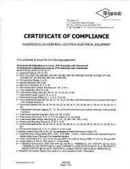 FM Approvals? Certificate of Compliance for Haz - Pyromation, Inc.