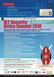 ICT Security Africa Summit 2010 - MIS Training