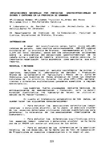 """Illescas Gómez, P. y otros (1994): """"Infecciones naturales por ..."""