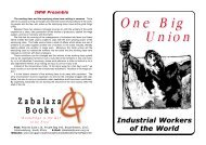 One Big Union - Zabalaza Books