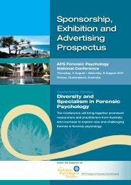 Sponsorship, Exhibition and Advertising Prospectus - APS Member ...