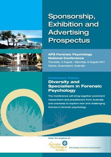 Sponsorship, Exhibition and Advertising Prospectus - APS Member ...