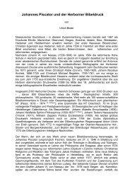 Johannes Piscator und der Herborner Bibeldruck - Sepher-Verlag ...