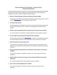 FAQs - Wisconsin Indianhead Technical College