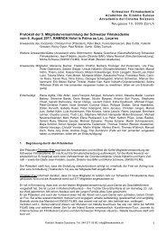 Protokoll der 5. Mitgliederversammlung - Schweizer Filmakademie