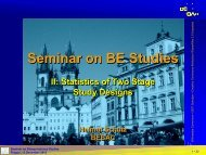 Statistics of Two Stage Designs - BEBAC • Consultancy Services for ...